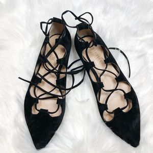 Anthropologie billy Ella suede lace up flats